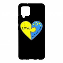 Чохол для Samsung A42 5G I love Ukraine пазли