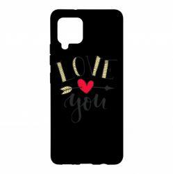 Чохол для Samsung A42 5G I love you and heart