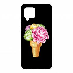 Чохол для Samsung A42 5G Ice cream flowers