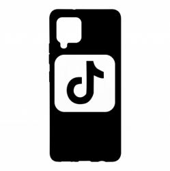 Чехол для Samsung A42 5G Иконка тик ток