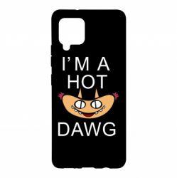 Чехол для Samsung A42 5G Im hot a dawg