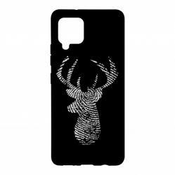 Чохол для Samsung A42 5G Imprint of human skin in the form of a deer