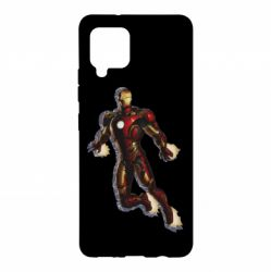 Чехол для Samsung A42 5G Iron man with the shadow of the lines