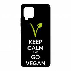 Чехол для Samsung A42 5G Keep calm and go vegan