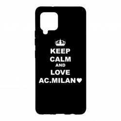 Чохол для Samsung A42 5G Keep calm and love AC Milan