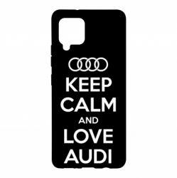 Чехол для Samsung A42 5G Keep Calm and Love Audi
