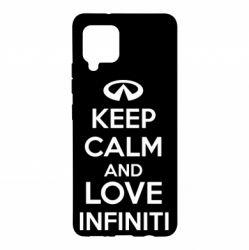 Чехол для Samsung A42 5G KEEP CALM and LOVE INFINITI