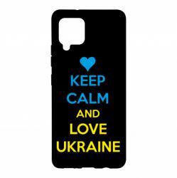 Чохол для Samsung A42 5G KEEP CALM and LOVE UKRAINE