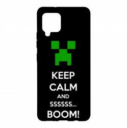 Чохол для Samsung A42 5G Keep calm and ssssssss...BOOM!