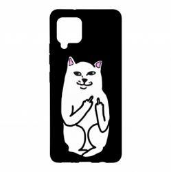 Чехол для Samsung A42 5G Кот с факом