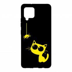 Чохол для Samsung A42 5G Котик і павук