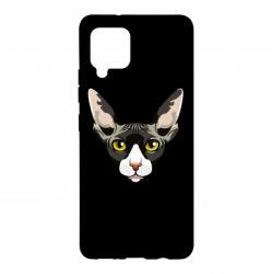 Чохол для Samsung A42 5G Котя сфінкс жовті очі