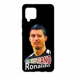 Чохол для Samsung A42 5G Крістіано Роналдо, полігональний портрет