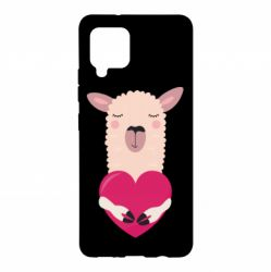 Чохол для Samsung A42 5G Lama with heart