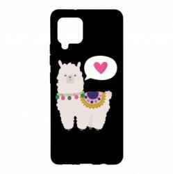Чехол для Samsung A42 5G Lama with pink heart