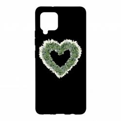 Чехол для Samsung A42 5G Lilies of the valley in the shape of a heart