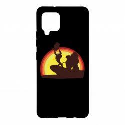 Чохол для Samsung A42 5G Lion king silhouette