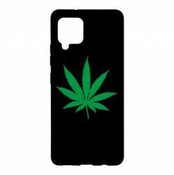 Чохол для Samsung A42 5G Листочок марихуани