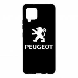 Чехол для Samsung A42 5G Логотип Peugeot