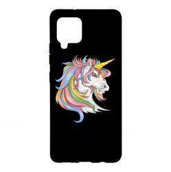 Чохол для Samsung A42 5G Кінь з кольоровою гривою