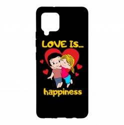 Чохол для Samsung A42 5G love is...happyness