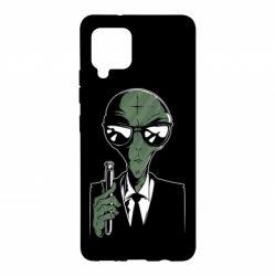 Чохол для Samsung A42 5G Люди в черном пародия