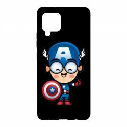 Чехол для Samsung A42 5G Маленький Капитан Америка