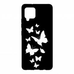 Чохол для Samsung A42 5G Many butterflies