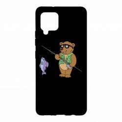 Чохол для Samsung A42 5G Ведмідь ловить рибу