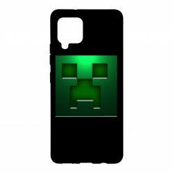 Чехол для Samsung A42 5G Minecraft Face