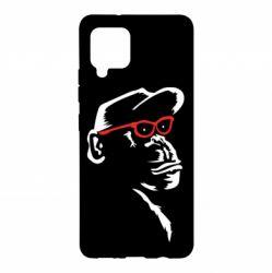 Чохол для Samsung A42 5G Monkey in red glasses