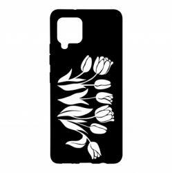 Чохол для Samsung A42 5G Monochrome tulips