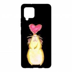 Чохол для Samsung A42 5G Морська свинка і сердечко