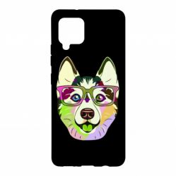 Чохол для Samsung A42 5G Multi-colored dog with glasses