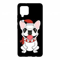 Чехол для Samsung A42 5G New Year's French Bulldog
