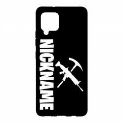 Чохол для Samsung A42 5G Nickname fortnite weapons
