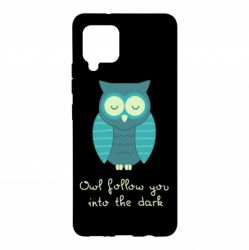 Чехол для Samsung A42 5G Owl follow you into the dark