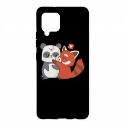 Чохол для Samsung A42 5G Panda and fire panda