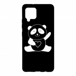 Чохол для Samsung A42 5G Panda and heart