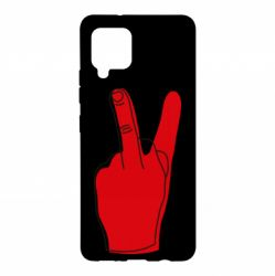 Чехол для Samsung A42 5G Peace and middle finger