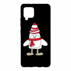 Чехол для Samsung A42 5G Penguin in the hat and scarf