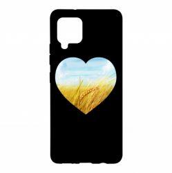 Чохол для Samsung A42 5G Пейзаж України в серце