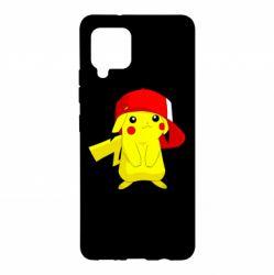 Чехол для Samsung A42 5G Pikachu in a cap