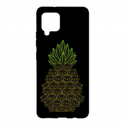 Чехол для Samsung A42 5G Pineapple cat