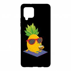 Чохол для Samsung A42 5G Pineapple with coconut