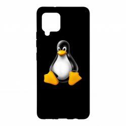 Чохол для Samsung A42 5G Пингвин Linux