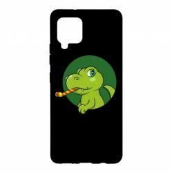 Чохол для Samsung A42 5G Святковий динозавр