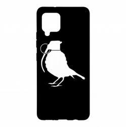 Чехол для Samsung A42 5G Птичка с гранатой