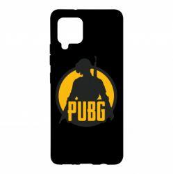 Чехол для Samsung A42 5G PUBG logo and game hero