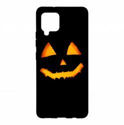 Чохол для Samsung A42 5G Pumpkin face features